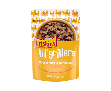 Friskies® Lil' Grillers Seared Cuts with Chicken in Gravy
