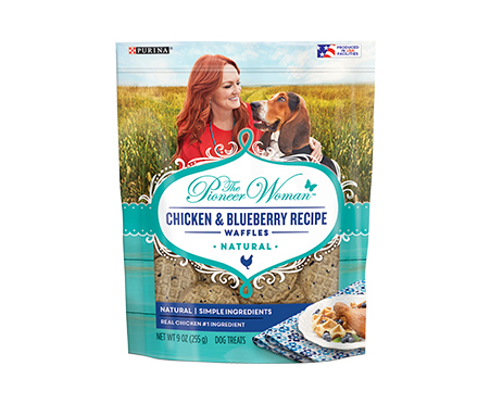 NEW! The Pioneer Woman Chicken & Blueberry Recipe Waffles Adult Dog Treats