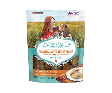NEW! The Pioneer Woman Chicken & Sweet Taters Recipe Bites Adult Dog Treats