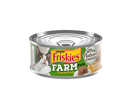 Friskies® Farm Favorites Pate With Chicken and Carrots Adult Wet Cat Food