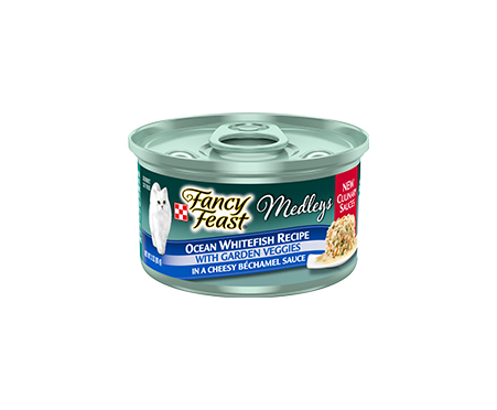 Fancy Feast® Medleys Whitefish with Veggies in Bechamel Sauce Wet Cat Food