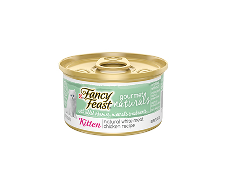 Fancy Feast Gourmet Naturals Kitten Wet Food with White Meat Chicken