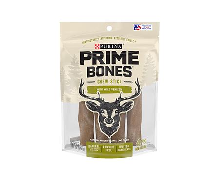 Prime Bones Limited Ingredient Medium Dog Treats With Wild Venison