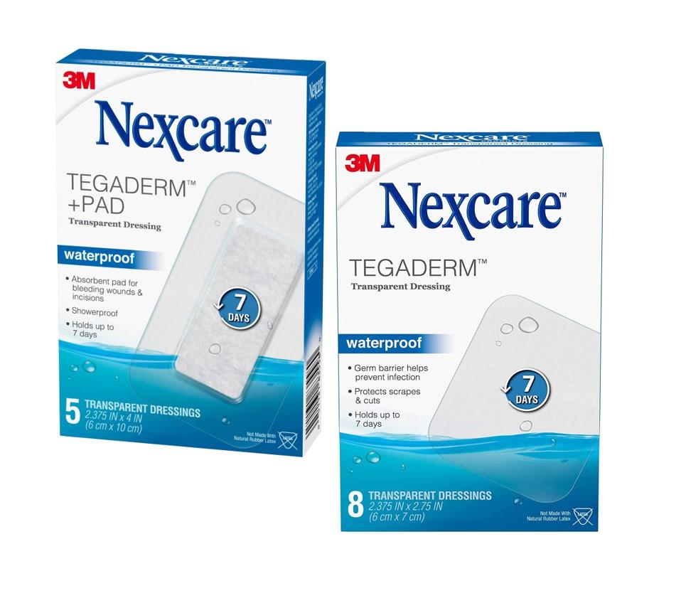 Nexcare™ Tegaderm and Tegaderm™ + Pad Waterproof Transparent Dressings