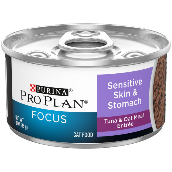 Purina® Pro Plan® Adult Sensitive Skin & Stomach Tuna & Oat Meal Entrée Classic Wet Cat Food