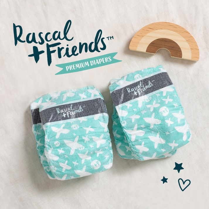 Rascal + Friends Premium Diapers - Size 1 (6-11lbs.)