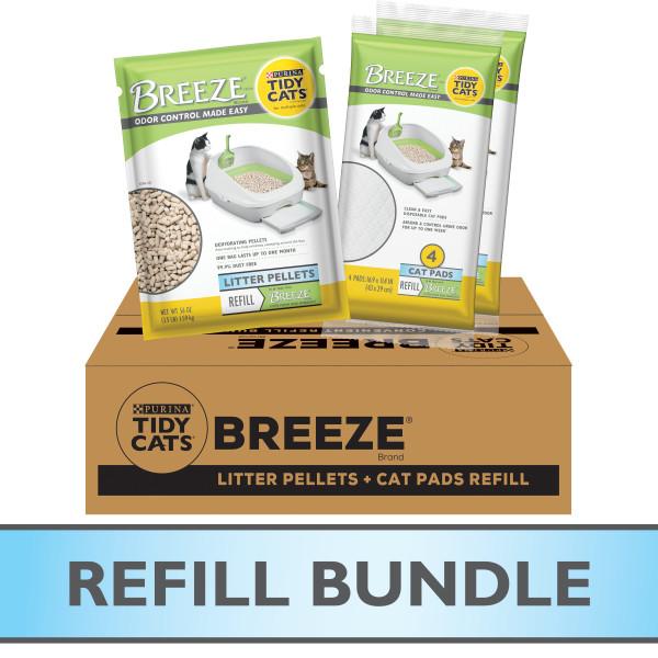 Purina® Tidy Cats® Breeze Refill Litter Pellets & Cat Pads Bundle Pack
