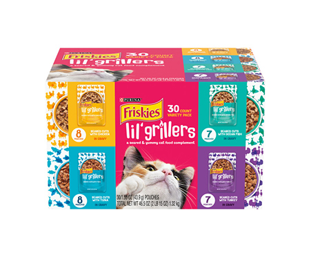 Purina® Friskies® Lil' Grillers Wet Cat Food Complement Variety Pack