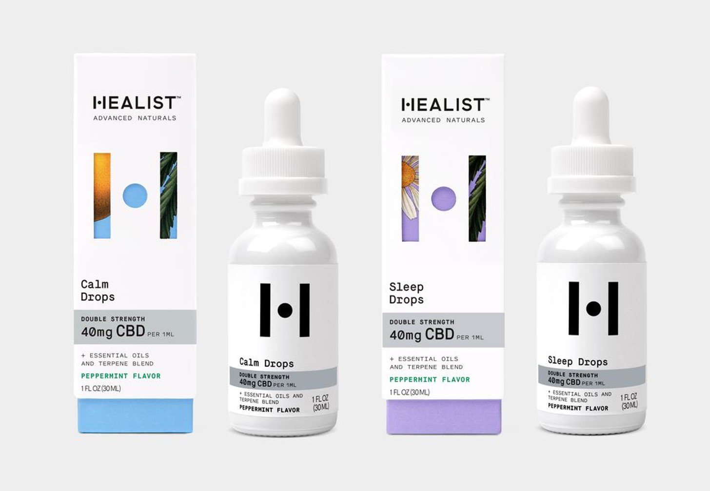 Healist Calm and Sleep Drops Discovery Size: CBD + Clinically Backed Natural Ingredients