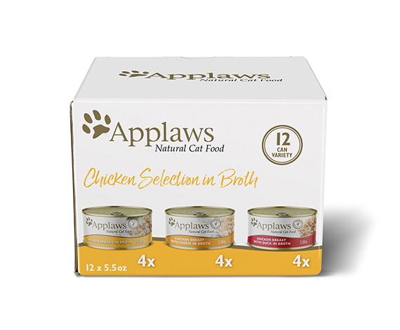 Applaws Natural Wet Cat Food Chicken Selection Multipack in Broth 12 x 5.5oz Cans