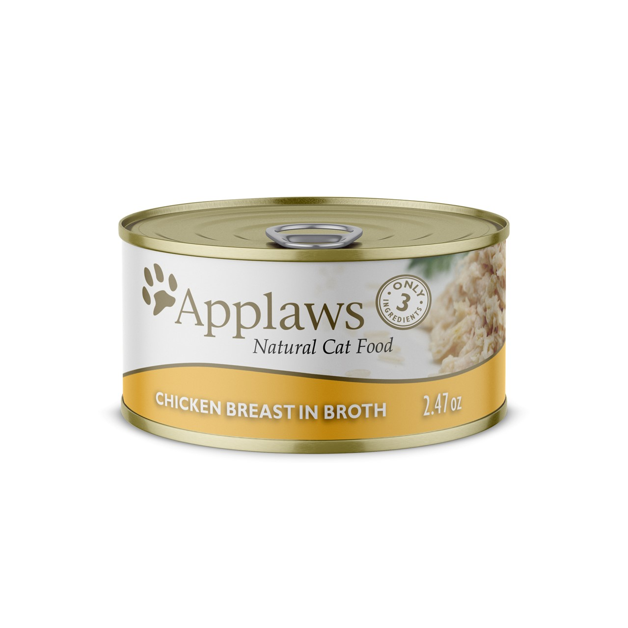 Applaws Natural Wet Cat Food Chicken Breast in Broth 2.47oz Can