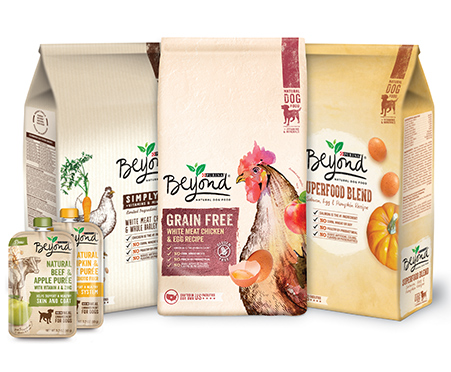 Beyond® dry dog food ($5 off a medium sized bag) & Purées (buy one get one free) coupons
