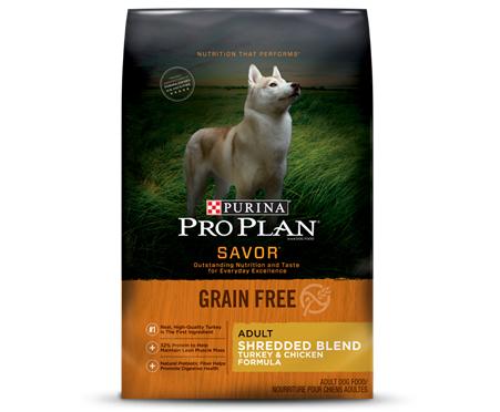 Purina Pro Plan SAVOR Shredded Blend Adult Grain Free Turkey & Chicken Formula Dry Dog Food