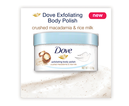 Dove Exfoliating Body Polish Crushed Macadamia Amp Rice Milk Free Samples Reviews Pinchme