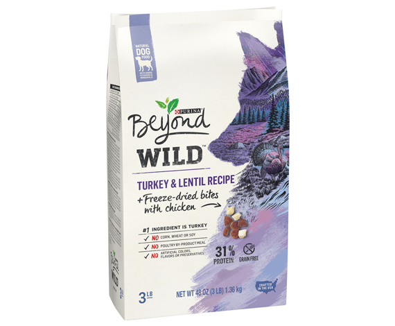 Beyond WILD Natural Dry Dog Food Turkey & Lentil Recipe + Freeze-dried bites with chicken