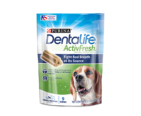 DentaLife ActivFresh Daily Oral Care Dog Chews 6.1oz