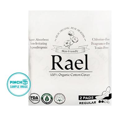 Rael Organic Cotton Pad with Wings, Regular Absorbency