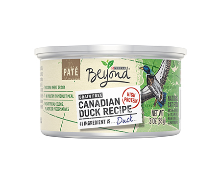 Purina Beyond Grain Free Paté Canadian Duck Recipe Adult Wet Cat Food