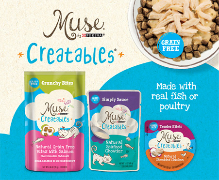 Muse Creatables Crunchy Bites - Natural Grain Free Bites with Chicken