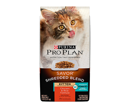 Purina Pro Plan Savor Shredded Blend Chicken & Rice Kitten Formula Dry Cat Food