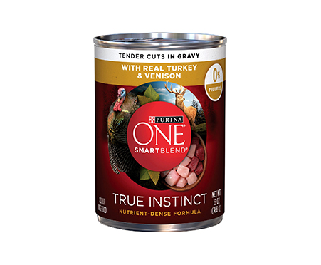 Purina ONE SmartBlend True Instinct Tender Cuts in Gravy with Real Turkey & Venison Canned Dog Food