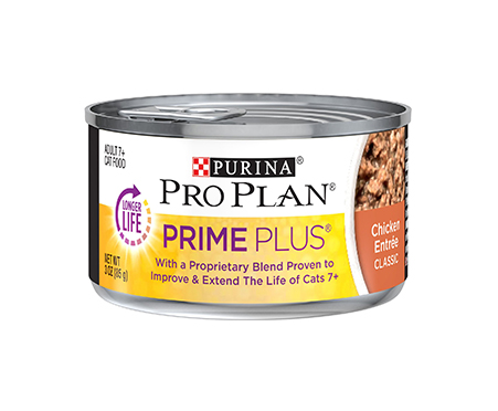 Purina Pro Plan Prime Plus 7+ Classic Chicken Grain-Free Entree Canned Cat Food