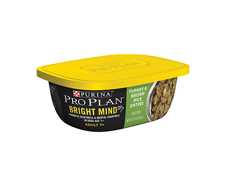 Purina Pro Plan Bright Mind Adult 7+ Turkey & Brown Rice Entree Wet Dog Food