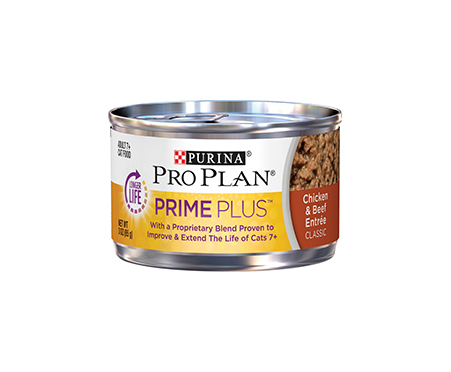 Purina Pro Plan Prime Plus Adult 7+ Chicken & Beef Entree Classic Canned Cat Food
