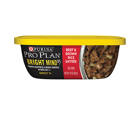 Purina Pro Plan Bright Mind Adult 7+ Beef & Brown Rice Entree Wet Dog Food