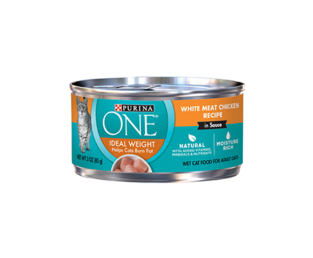 Purina ONE Ideal Weight White Meat Chicken Recipe in Sauce Canned Cat Food