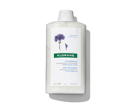 Klorane Shampoo with Centaury- For White, Gray, Silver and Platinum Blond Hair