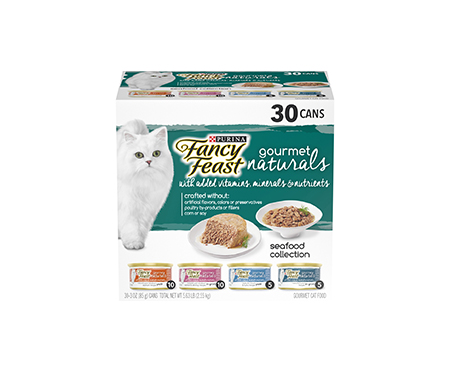 Purina Fancy Feast Gourmet Naturals Seafood Adult Wet Cat Food Variety Pack