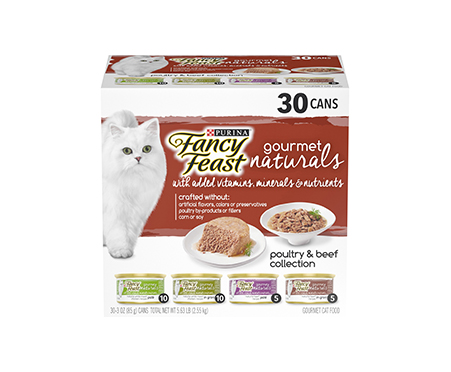 Purina Fancy Feast Gourmet Naturals Poultry & Beef Adult Wet Cat Food Variety Pack