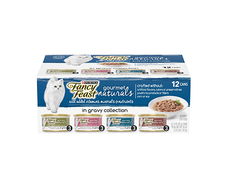 Purina Fancy Feast Gourmet Naturals Grilled Pate Wet Cat Food Variety Pack