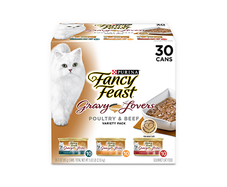Purina Fancy Feast Gravy Lovers Poultry & Beef Feast Collection Wet Cat Food Variety Pack
