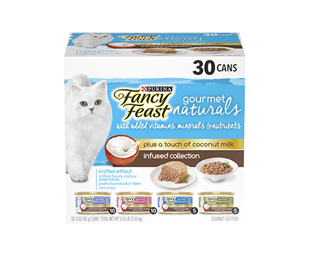 Purina Fancy Feast Gourmet Naturals Gravy Pate Plus Coconut Milk Wet Cat Food Variety Pack