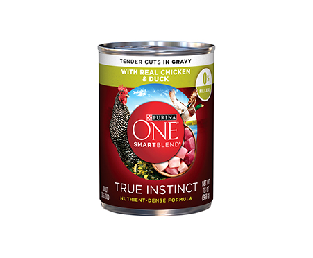 Purina ONE SmartBlend True Instinct Tender Cuts with Real Chicken & Duck in Gravy