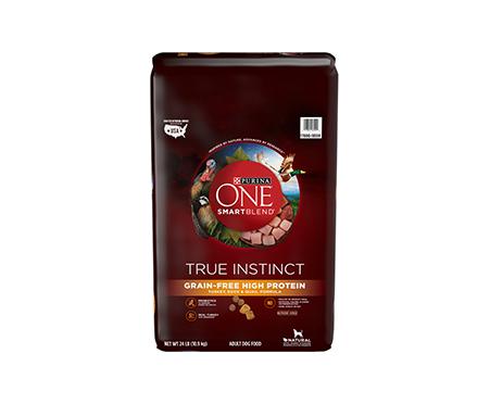 Purina® ONE SmartBlend True Instinct High Protein Grain Free Turkey, Duck & Quail Formula