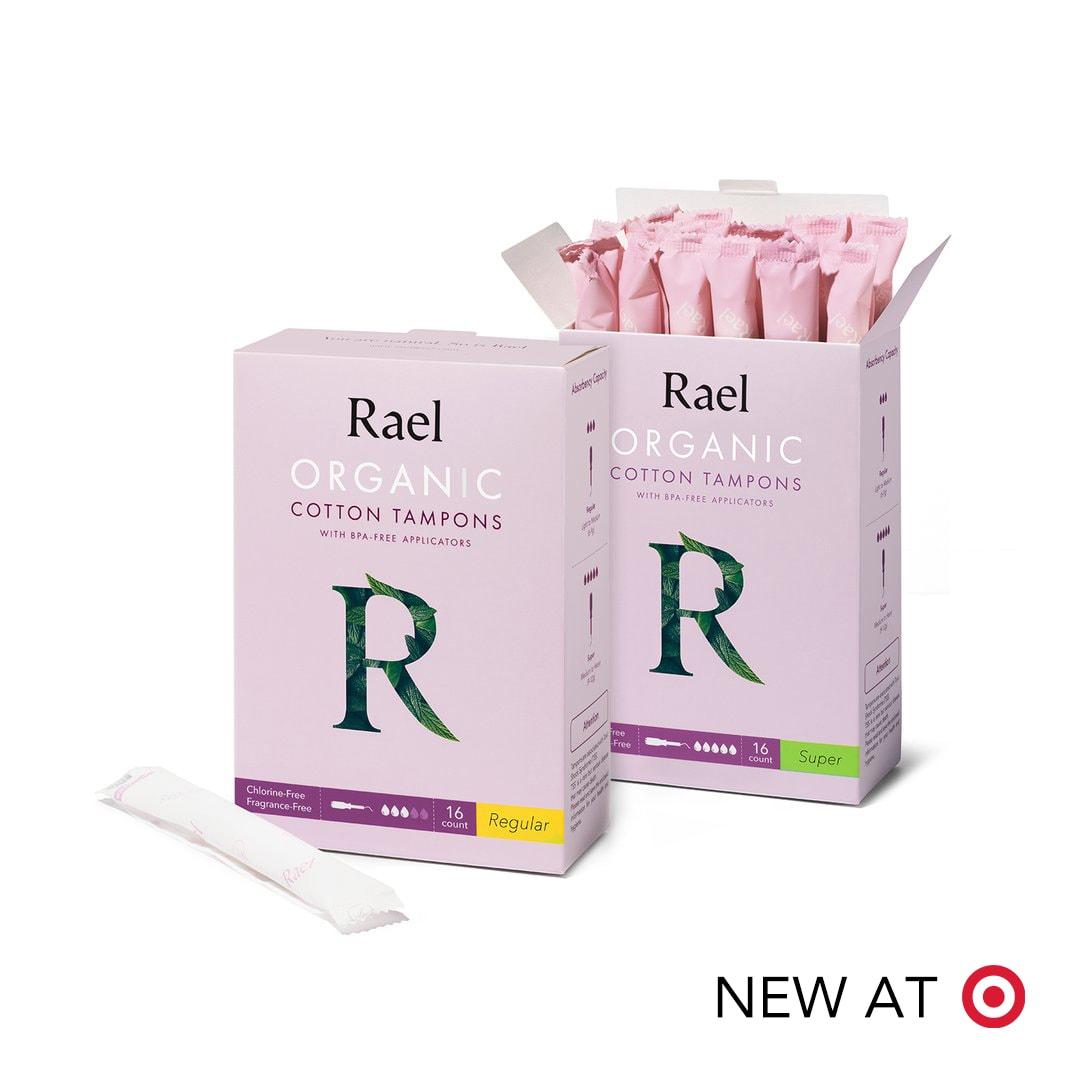 Rael Organic Cotton Tampons with BPA-Free Applicators (Regular & Super)