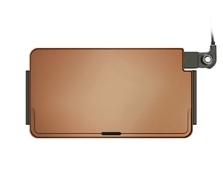 "BELLA Copper Titanium XL 22"" Griddle, Copper and Black"