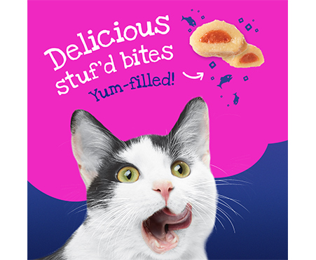 Friskies® Stuf'D + Sauc'D Jamm'n with Salmon & Shrimp + Simmer'd in Sauce