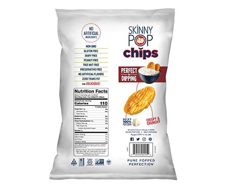 SkinnyPop Popped Chips BBQ Flavor