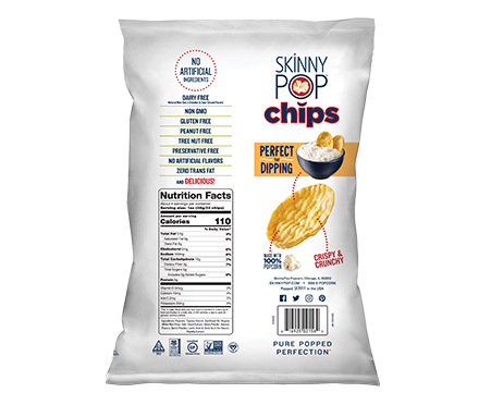 SkinnyPop Popped Chips in Cheddar & Sour Cream Flavor