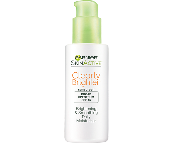 Clearly brighter brightening & smoothing daily moisturizer spf 15