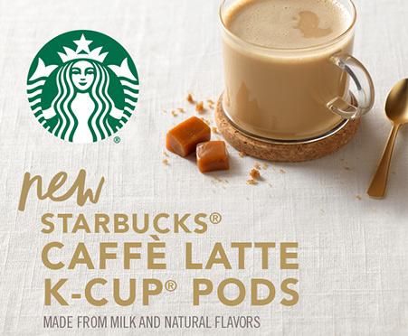 Starbucks Caramel Caffe Latte K Cup Pods Free Samples