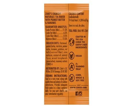 Zuke's® Crunchy Naturals Plus Vitamins & Minerals