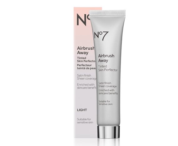 No7 Airbrush Away Tinted Skin Perfector & No7 Early Defence Glow Activating Serum