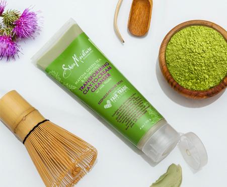 SheaMoisture Matcha Green Tea & Probiotics Transforming Clay-to-Cream Cleanser