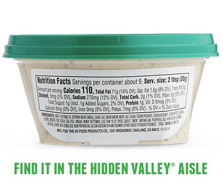 Hidden Valley Ranch Dip - Bacon Ranch