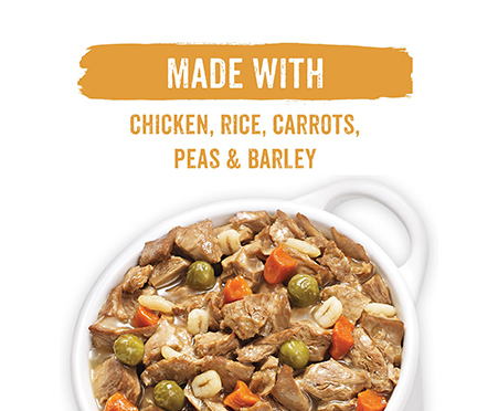 Purina Beneful Prepared Meals Chicken Stew with Rice, Carrots, Peas & Barley Wet Dog Food